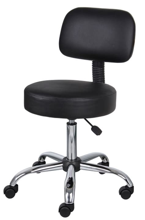 Small Desk Chairs With Wheels Small Office Chairs On Wheels Black Caressoft Stool With Back Cushion Picture 86