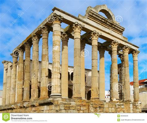 temple of diana temple of diana in merida spain stock image image