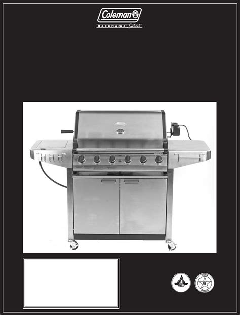 backyard grill manual coleman gas grill 9947a726 user guide manualsonline com