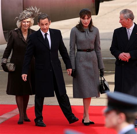 When The Of Met The Carla Bruni Is Demure In by Nicolas Sarkozy And Carla Bruni Arrive In To Meet