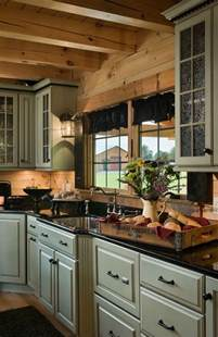 1000 ideas about log cabin kitchens on pinterest cabin log home tour whitefish mt estate