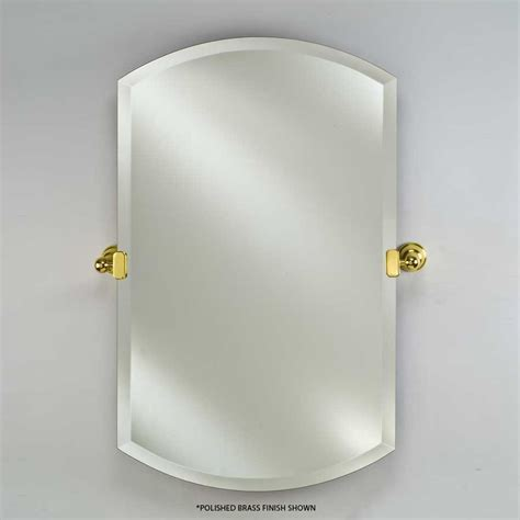 afina rm 938t radiance 24 x 38 double arch frameless with afina radiance tilt traditional 24 quot double arch top mirror