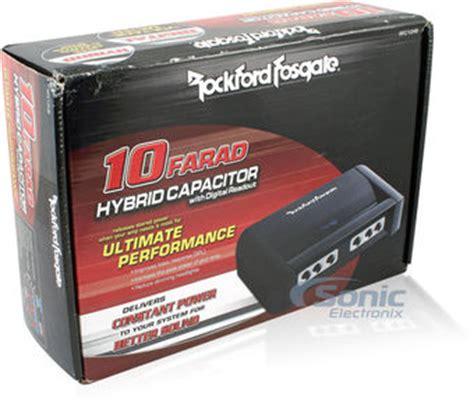 rockford fosgate hybrid capacitor rockford fosgate rfc10hb hybrid digital stiffening capacitor and