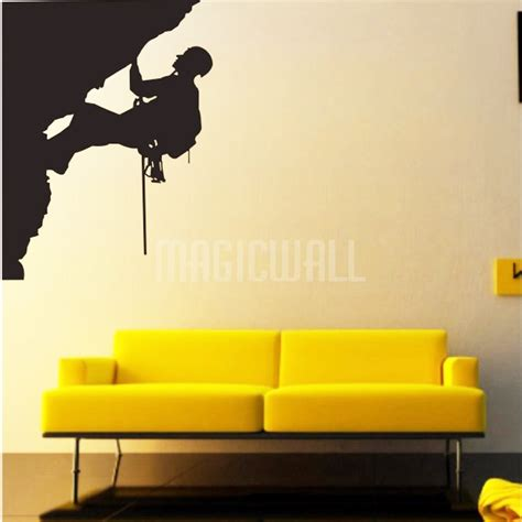 sports wall stickers wall stickers rock climber sport wall decals canada
