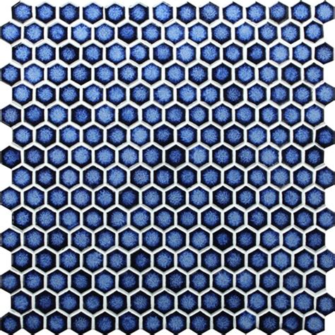 hexagon dark blue bcz607 mosaic tile pool tile blue