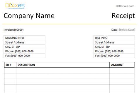 Simple Cash Receipt Template Receipt Templates Dotxes