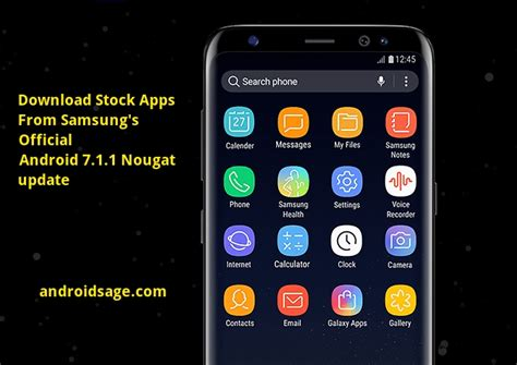 android stock apk stock apps from samsung s android 7 1 1 nougat firmware apk