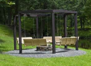 Swings Around Firepit Awesome Pit Swing Set Home Design Garden Architecture Magazine