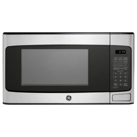 ge 1 1 cu ft countertop microwave in stainless steel