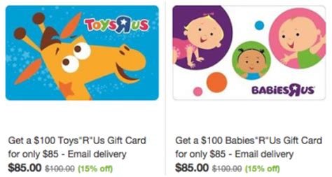 Do Toys R Us Gift Cards Expire - toys r us or babies r us gift card deal pay 85 for 100 value bargains to bounty