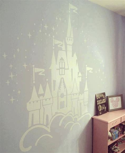 disney bedroom wall stickers floating disney fairy castle wall sticker vinyl decal