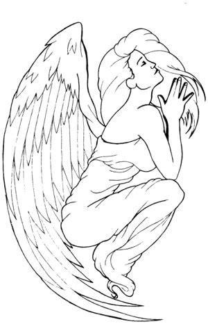 tattoo angel outline index of images 19