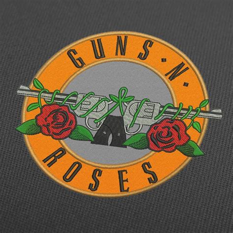 guns  roses logo embroidery design applique