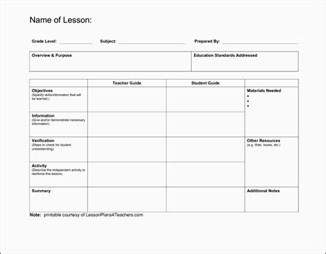 9 Download Free Daily Lesson Planner Sletemplatess Sletemplatess General Lesson Plan Template