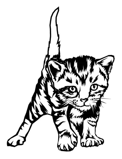 printable coloring pages of baby kittens kitten color page az coloring pages