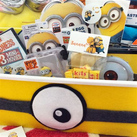 minion gift wrap easy to make felt minion basket wrap basket