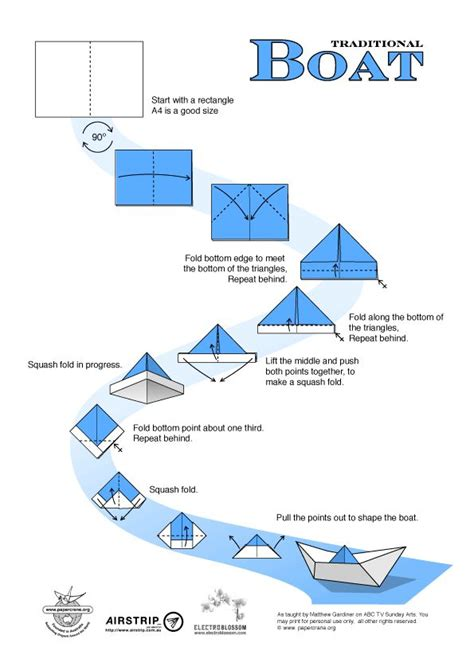 How To Make Paper Boat Origami - 17 best ideas about origami boat on paper