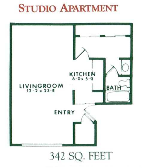 one room floor plans studio apartment floor plans