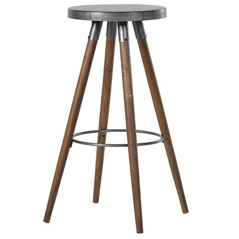 Retro Metal Kitchen Stools by Metal Topped Retro Style Kitchen Bar Stool Melody Maison 174