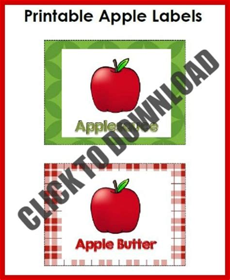 printable plastic labels dramatic play apple activities