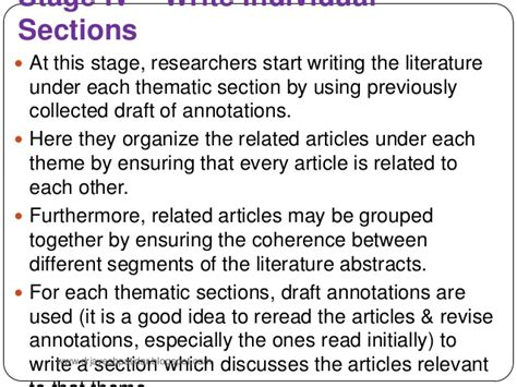 style related to literature review in research