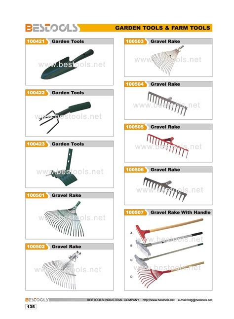 garden tool names list container gardening ideas