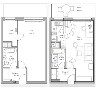 Plan Studio 12m2 by Ordinaire Amenagement Chambre 12m2 9 Plan De Studio