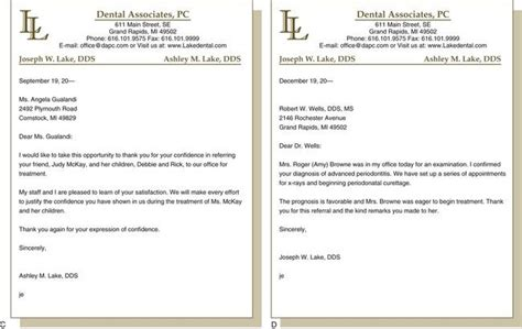 letter to for dentist appointment written communications pocket dentistry