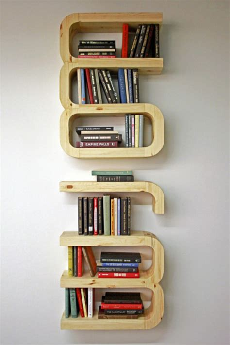 interesting bookshelves unique diy floating bookshelf decoration