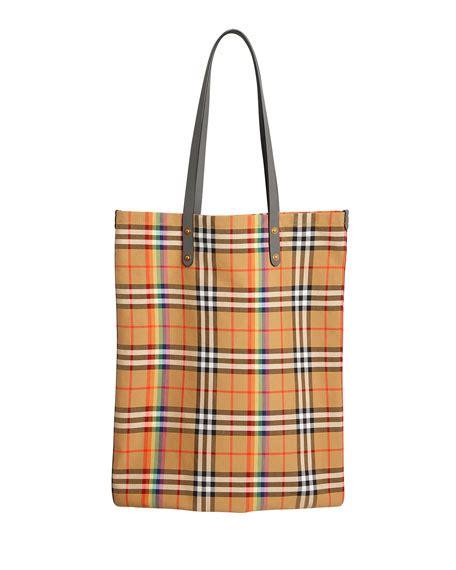 Check Shopper Bag burberry vintage check rainbow large shopper tote bag