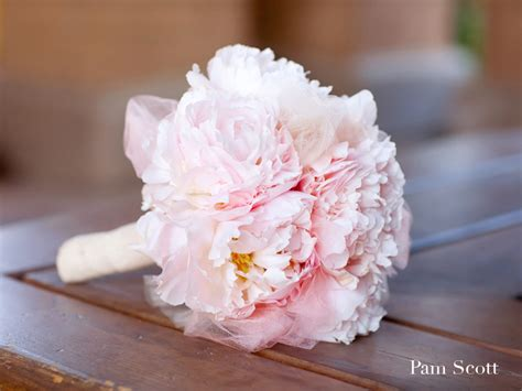 Wedding Bouquet Light Pink by Monochromatic Bridal Bouquets Light Pink Peoney Tuile