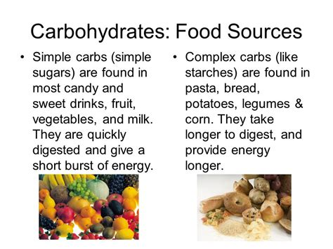 carbohydrates food sources macromolecules ppt