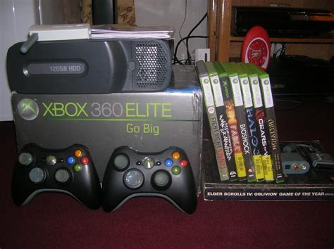 xbox 360 120gb hdd console xbox 360 elite 120gb hdd 2 pads lots of