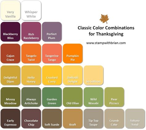 classic colors thanksgiving color combinations stamp with brian