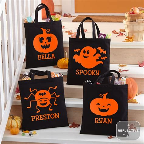 personalized halloween treat candy bags totes