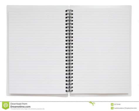 Open Spiral Bound Notebook Wit Stock Photo Image Of Message Background 2573448 Spiral Bound Book Template