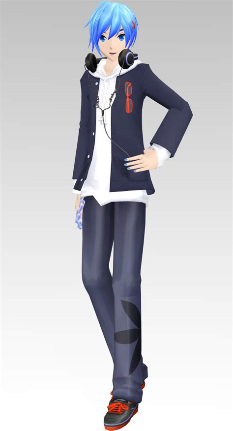 mmd tda male model mmd dt school uniform parka kaito dl by rin chan now on