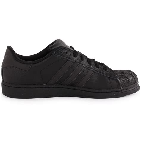 adidas leather shoes adidas superstar 2 womens leather black black trainers new