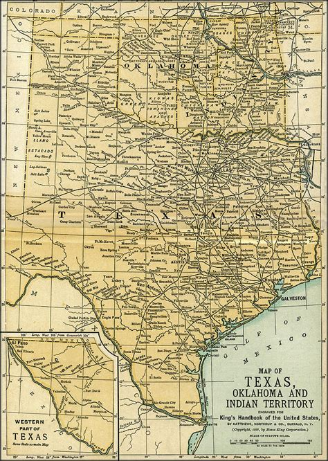 texas oklahoma map texas oklahoma indian territory antique map 1891 photograph by phil cardamone