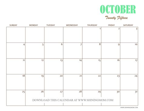 printable calendar 2015 uk october free printable october 2015 calendars