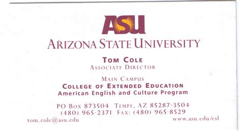 asu business card template yale som business cards image collections card design