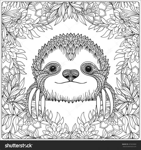 sloth an coloring book a coloring book for adults relaxation featuring floral designs mandalas and garden patterns for stress relief books coloring pages sloth coloring page sloth