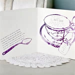 afternoon tea wedding invitation by eastwood notonthehighstreet