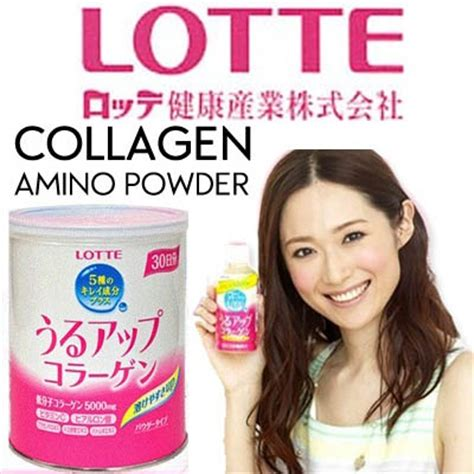 lotte lotte collagen amino powder refill pack tin