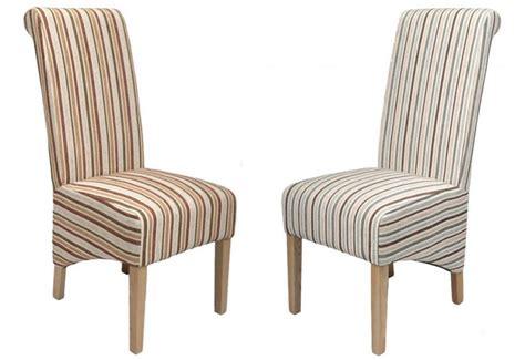 striped dining chairs shankar krista dining chairs oak legs