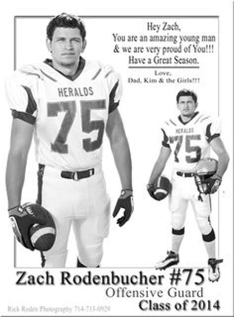 high school football program template ad exles football senior boys