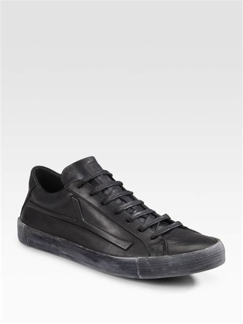 laurent sneakers mens laurent ypsilon low top sneakers in black for lyst