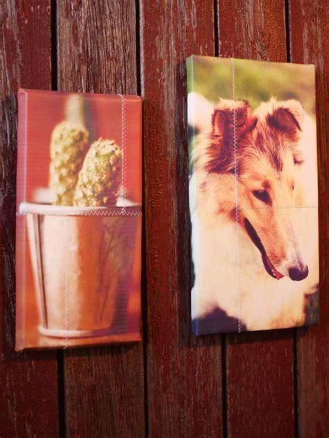 Sentimental Handmade Gifts - custom canvas photo hgtv