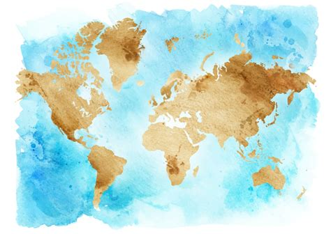 water color map watercolor world map vector 01 free