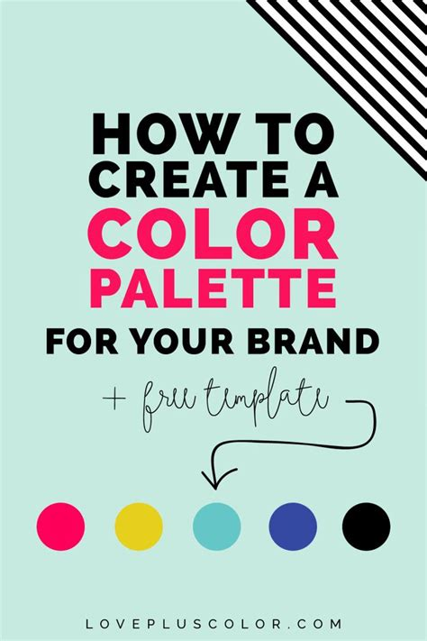 how to create your personal color palette plus take our 1000 ideas about create a logo on pinterest brand